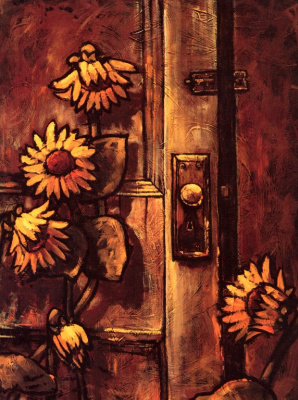 Клод Бонно. Подсолнухи у двери