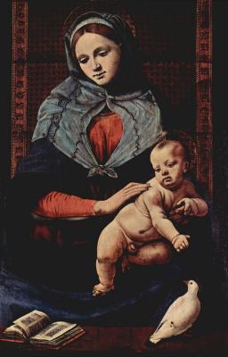 Пьеро ди Козимо. Мадонна с голубем
