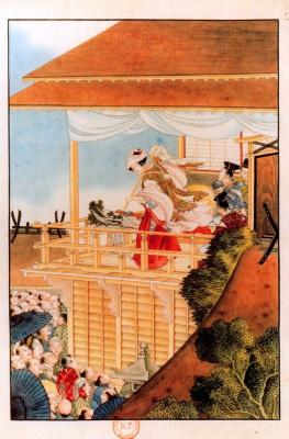 Кацусика Хокусай. Выступление