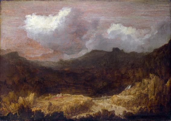 Геркулес Сегерс. Горный пейзаж
