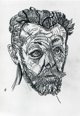 Oskar Kokoschka. The poet Richard Demel