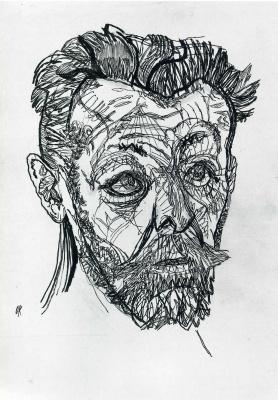 Oskar Kokoschka. The poet Richard Demel