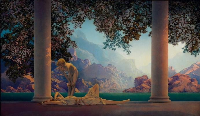 Maxfield Parrish. Dawn