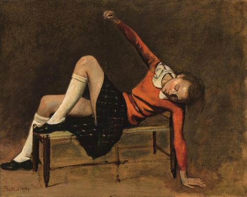 Balthus (Balthasar Klossovsky de Rola). Teresa on the bench
