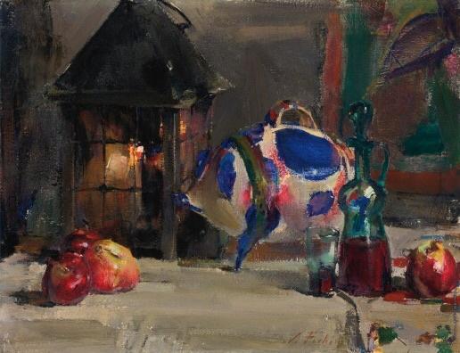 Nikolay Feshin. Still life with Mexican porcelain pig.