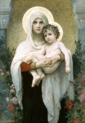 William-Adolphe Bouguereau. Madonna with roses