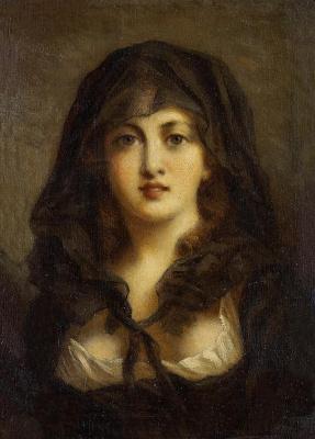 Федор Петрович Чумаков. Портрет молодой женщины.