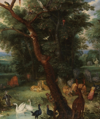 Peter Brueghel The Younger. Heaven on earth. Fragment I