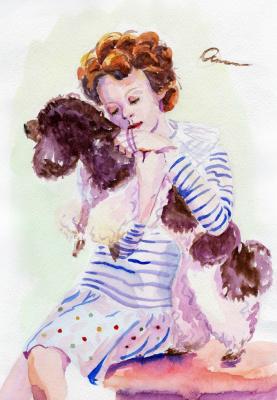 Ekaterina Viktorovna Osipovich. Girl with Poodle