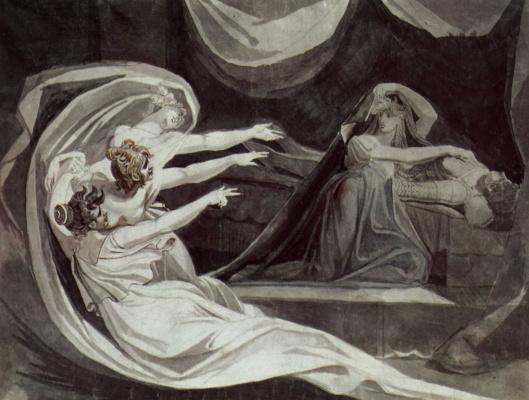 Johann Heinrich Fuessli. The krimhilda remorse