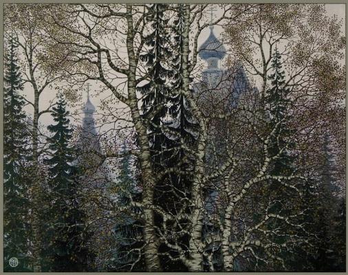 """Vasily Vasilyevich Timofeev. """"Forest monastery"""""""