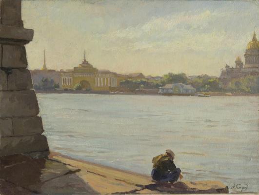 Алексей Васильевич Ганзен. Вид с Невы. Санкт-Петербург