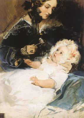 Эдвин Генри Ландсир. Герцогиня с ребенком