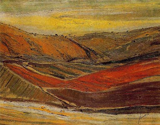 Хенаро Лахуерта. Пейзаж