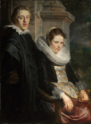 Jacob Jordaens. Portrait of a young married couple