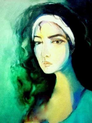 Anna Sukiasyan. Self portrait