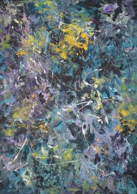 "Tanya Vasilenko. ""Birth"". Acrylic. Canvas. Incipience. Acrylic on Canvas."