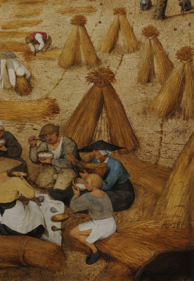 Pieter Bruegel The Elder. Harvest. Fragment 2