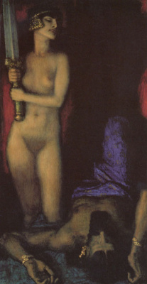 Franz von Pieces. Nude and sword