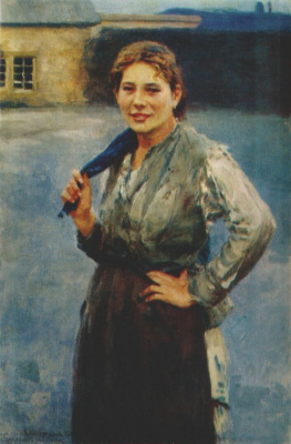 Nikolay Alekseevich Kasatkin. A woman miner