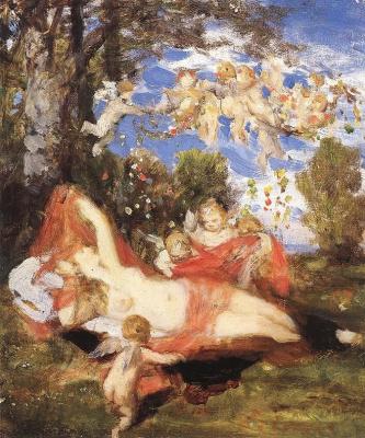 Pál Szinyei Merse. Awakening of Spring