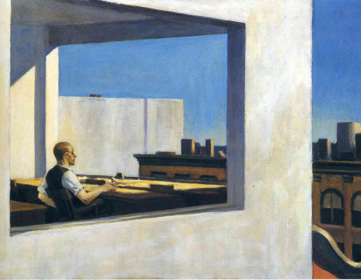 Edward Hopper. Office in a small town