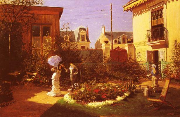 Леон Джозеф Воирин. Девушки в саду