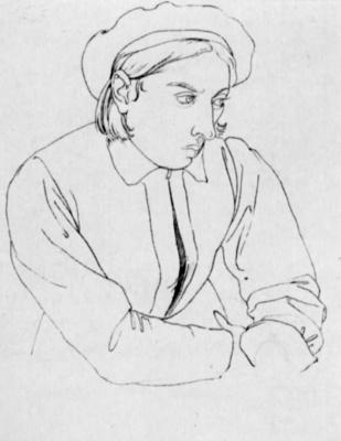 Johann Friedrich Overbeck. Youthful self portrait
