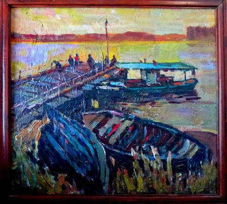 Петр Филиппович Альберти. Рыбачьи лодки