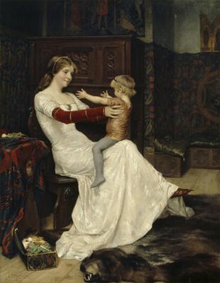 Albert Gustav Aristide Edelfelt. Queen Bianca. 1877
