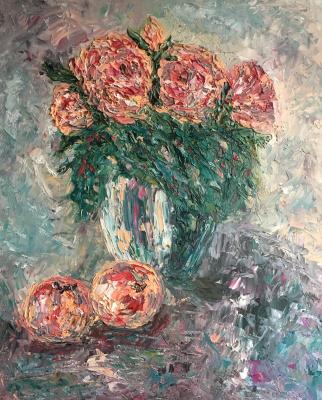 Victoria Valentinovna Zachkova. Still-life with flowers