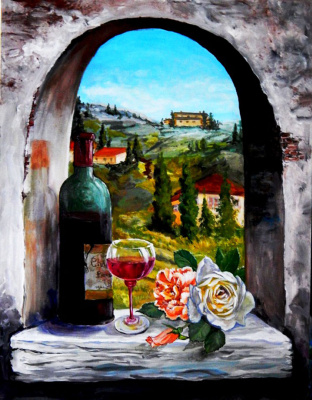 Marina Vladimirovna Patrikeeva. Still life in the arch!
