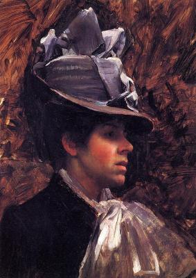 Джон Уильям Уотерхаус. Портрет жены художника