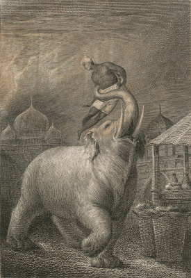 William Blake. Enraged elephant. Illustrations for the collection of ballads, by William Hayley