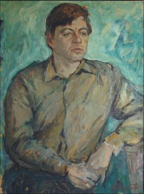 Александр Беляков. Мужской портрет на зеленом