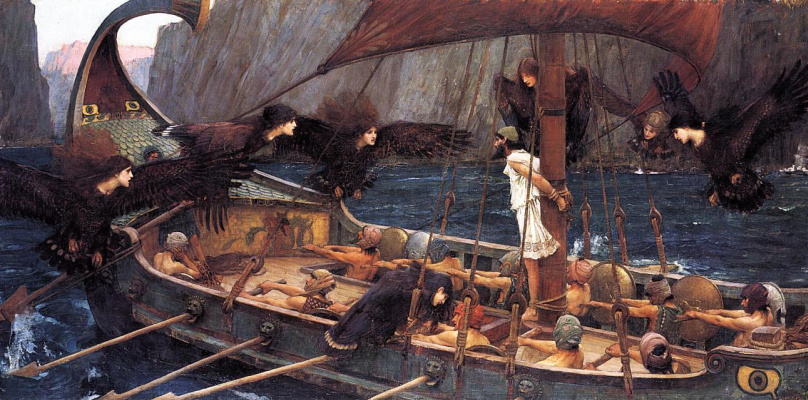 John William Waterhouse. Ulysses and the Sirens