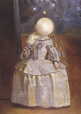 "Salvador Dali. Pearl. Based on ""the Infanta Margarita"" by Velazquez"