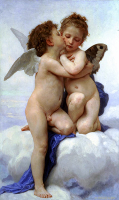 William-Adolphe Bouguereau. Little Cupid and Psyche