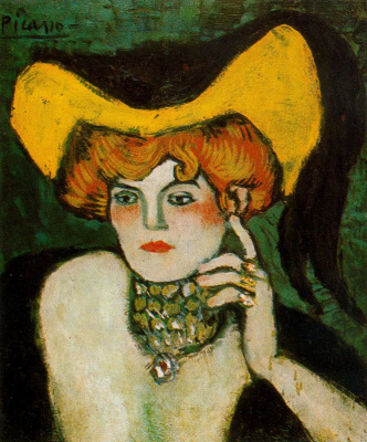 Pablo Picasso. A woman in a necklace of stones