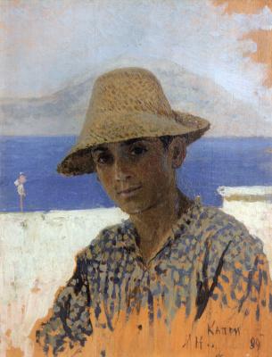 Mikhail Vasilyevich Nesterov. Head boy-Neapolitan. Etude