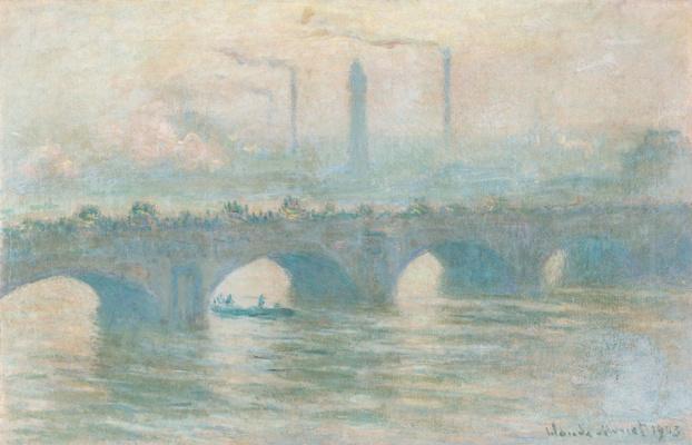 Claude Monet. Waterloo Bridge, temps gris (Waterloo Bridge, gray weather)