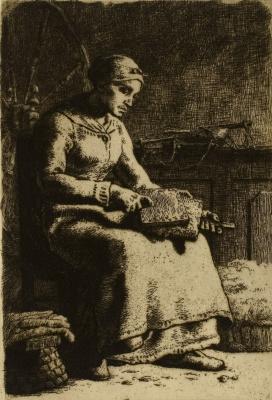 Jean-François Millet. Comber wool
