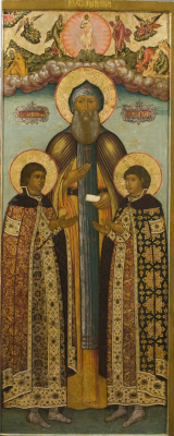 Icon Painting. Sv. Princes of Yaroslavl Fedor, David and Constantine