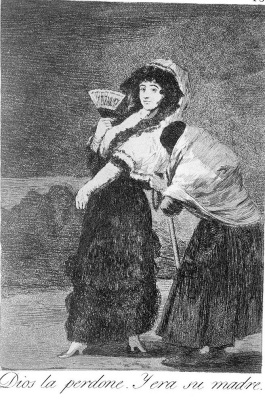 """Francisco Goya. """"Forgive her, God, it was her mother"""" (Series """"Caprichos"""", page 16)"""