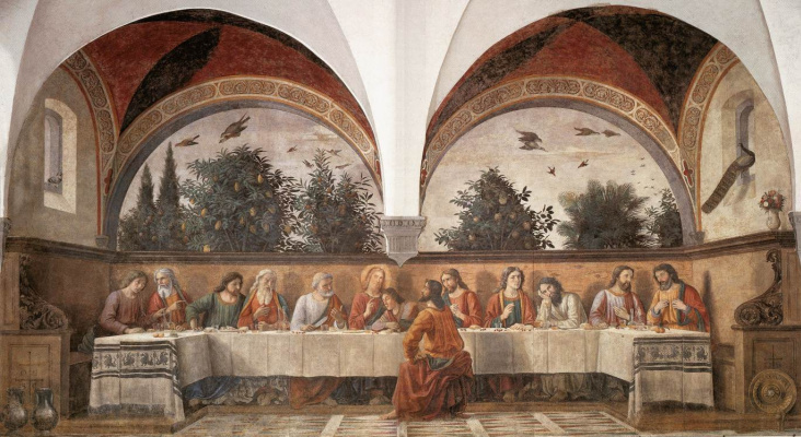 Domenico Girlandajo. The last supper