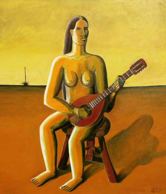 Arturo Carmona. Woman with mandolin