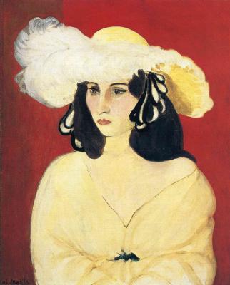 Дама в белой шляпе