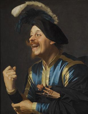 Gerard van Honthorst. The laughing violinist