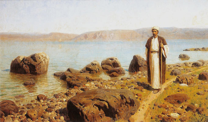 Vasily Dmitrievich Polenov. On the sea of Galilee (Genisaretsky) lake