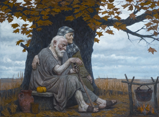 Heliy Mikhailovich Korzhev. Autumn ancestors